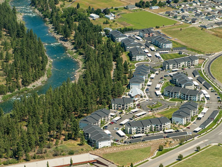 WA_Spokane Valley_River House Apartments_Community Arial View