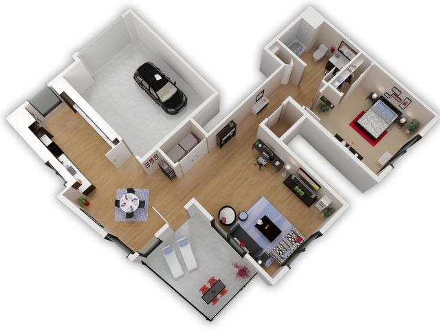 Capitol Yard Apartments_ West Sacramento CA_Floor Plan_One Bedroom One Bathroom A3