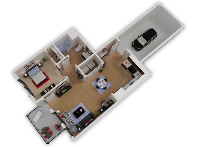 Capitol Yard Apartments_ West Sacramento CA_Floor Plan_One Bedroom One Bathroom A4