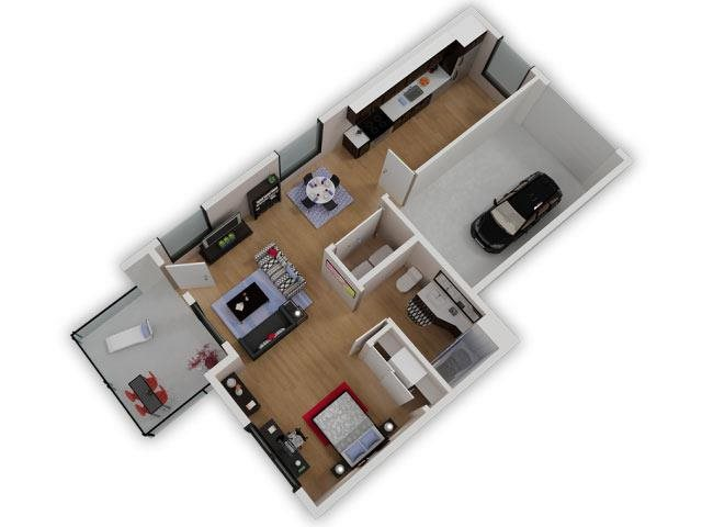 Capitol Yard Apartments_ West Sacramento CA_Floor Plan_Studio 1