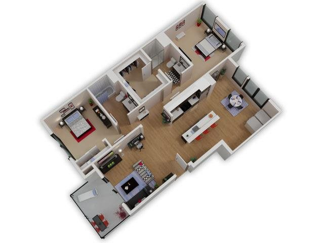 Capitol Yard Apartments_ West Sacramento CA_Floor Plan_Two Bedroom Two Bathroom B2