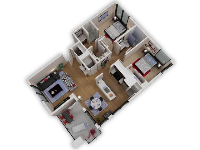 Capitol Yard Apartments_ West Sacramento CA_Floor Plan_Two Bedroom Two Bathroom B4