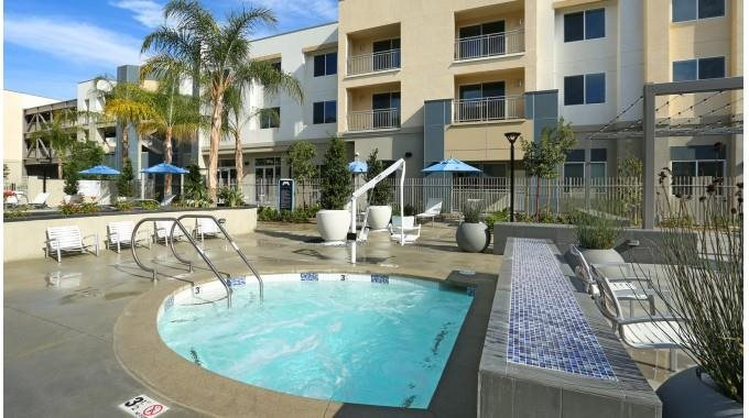 Mosaic Apartments_Oxnard CA_Community Sparkling Pool and Spa