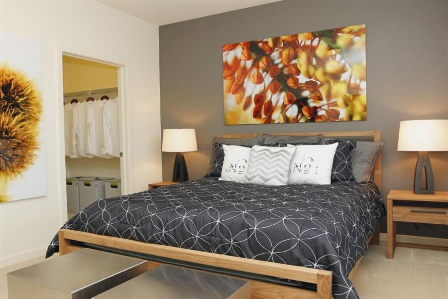 Englewood Apartments Capstone at Vallagio Furnished Bedroom