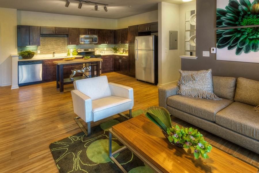 Englewood Apartments Capstone at Vallagio Wood-Style Flooring