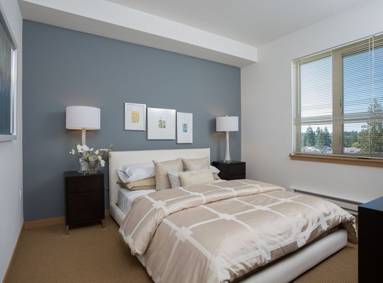 Live in cozy bedrooms at Trillium Apartments, Washington, 98026