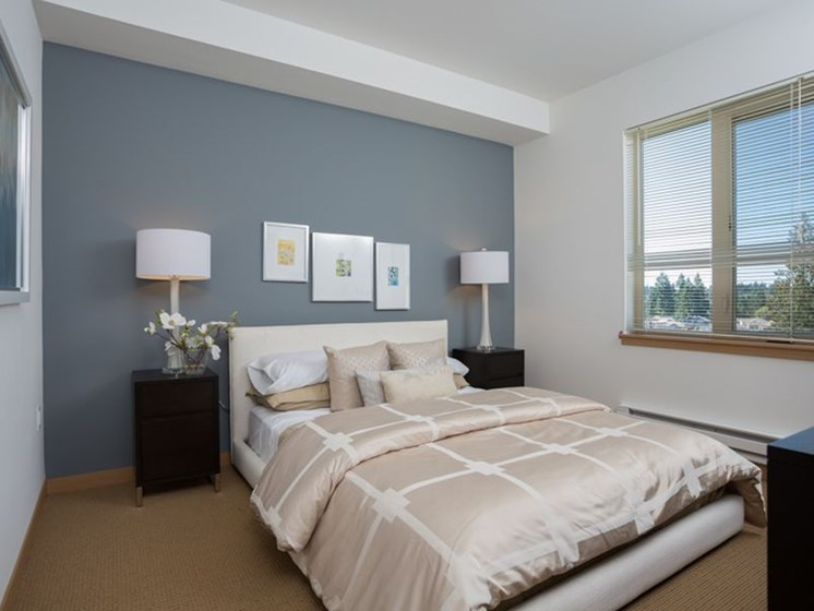 Live in cozy bedrooms at Trillium Apartments, Washington, 98026