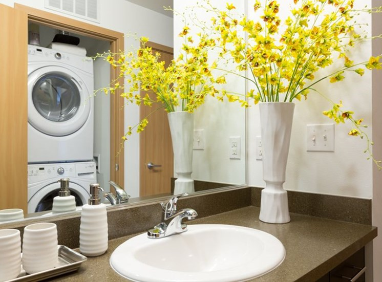 In-Home Washer and Dryer at Trillium Apartments, 4902 148th Street, Edmonds, WA