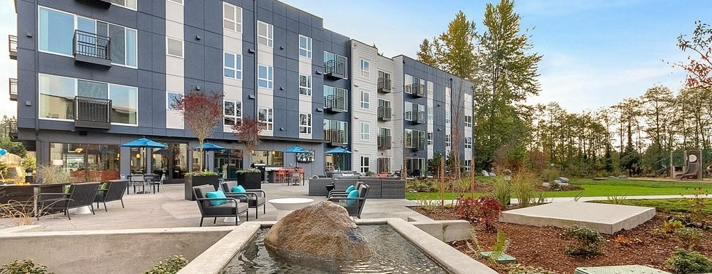 Private Patios And Balconies at Trillium Apartments, 4902 148th Street, WA