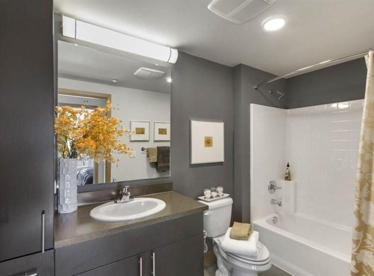 Spacious Bathrooms With Garden Tub at Trillium Apartments, 4902 148th Street, WA