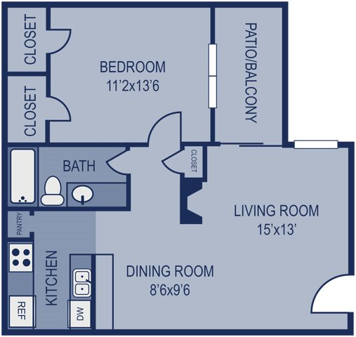 1 Bed 1 Bath 700 Floor Plan 6
