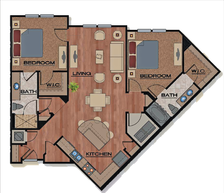Floor Plans Of Park Place Apartments In Oviedo, FL
