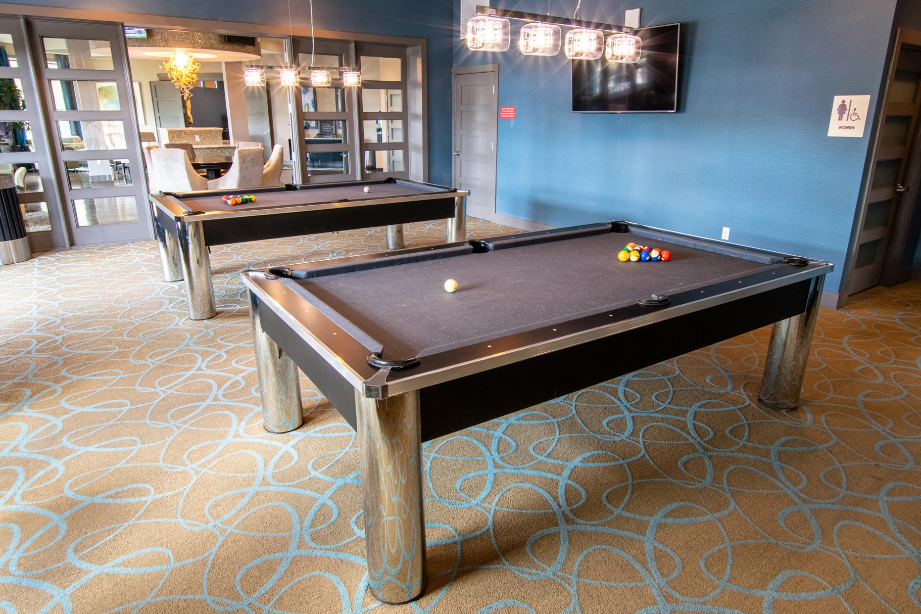 Billiards Room at Park Place Apartments