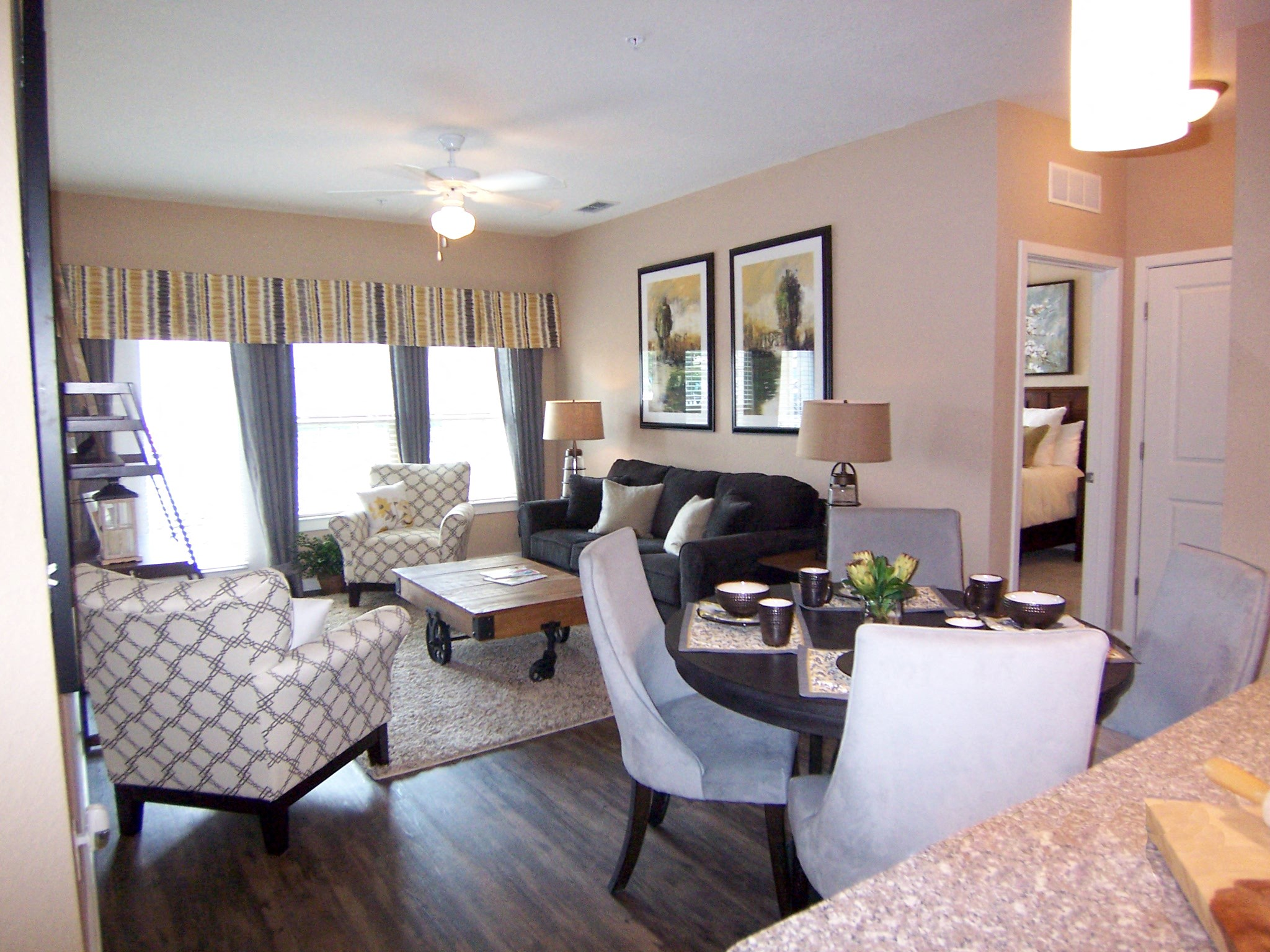 Living Room at Park Place Apartments in Oviedo, FL