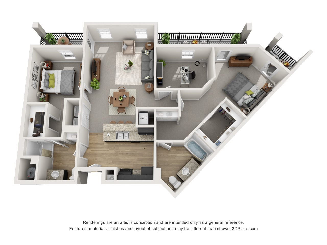 2 Bed Suites Floor Plan 4