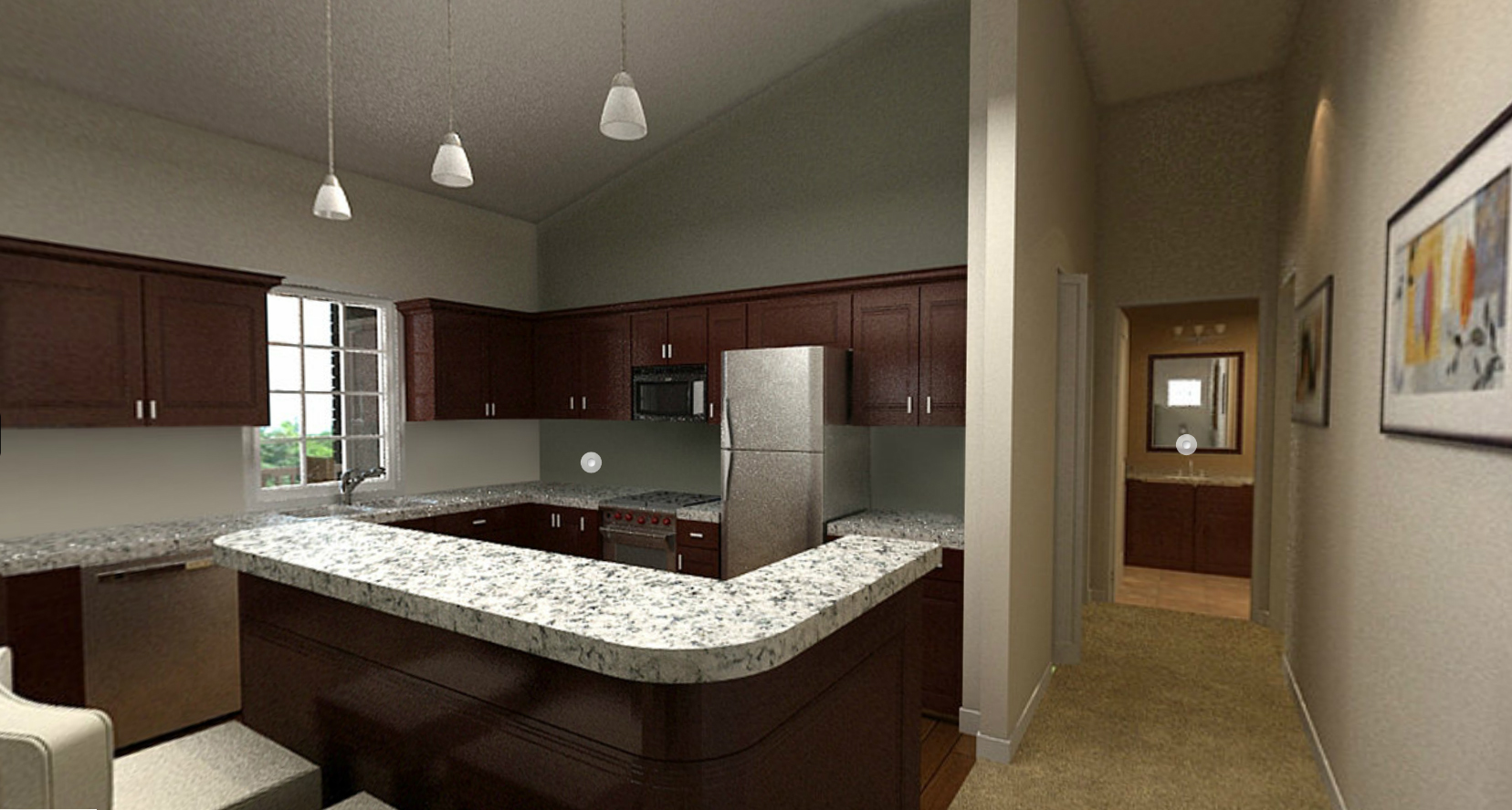 Gorgeous kitchen at Prairie Point Apartments in Merrillville, IN