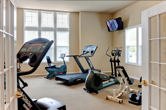 Fitness center at Prairie Point Apartments in Merrillville, IN