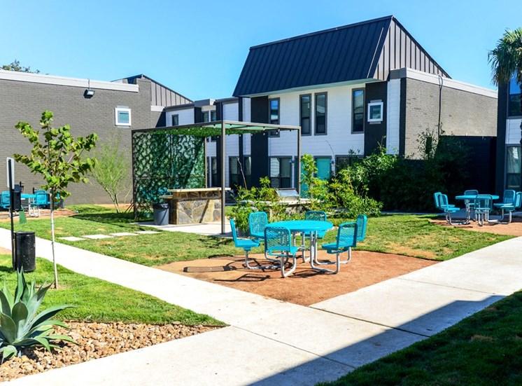 Beautiful Planter Combinations at Mesh Properties, Austin, Texas