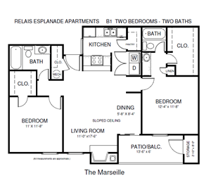Two Bedroom Marseilles