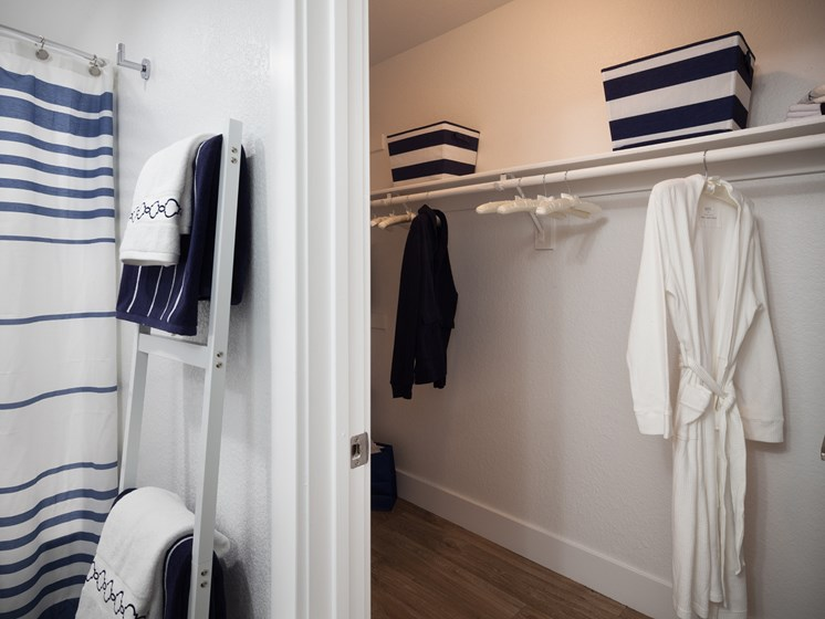 Walk-in closet off the master bath