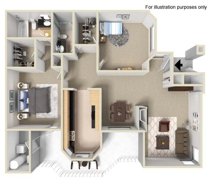The Bryant at Yorba Linda Apartment Homes - 2 Bedroom 2 Bath Apartment