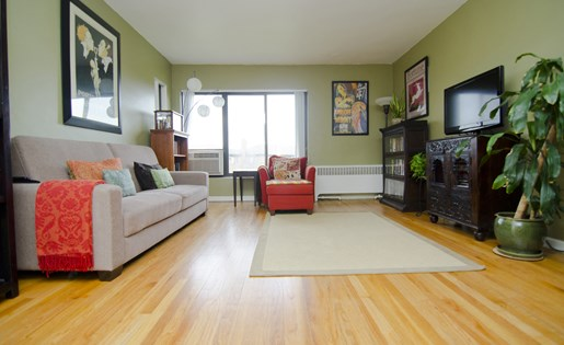 Spacious Living Room at Amber Square Apartments