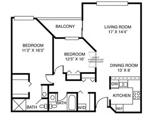 2A-Two Bed Two Bath
