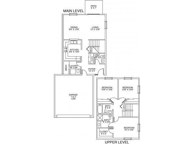 Cascade I Floor Plan 4