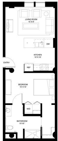 A4 Type A Studio Floor Plan 13