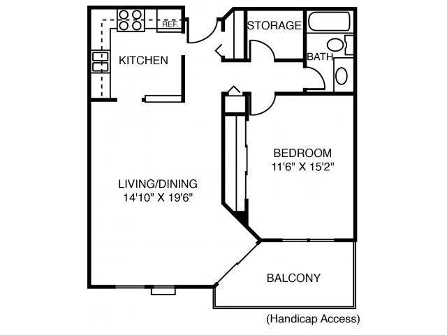 1C Silver Maple (Handicap Accessible) Floor Plan 19