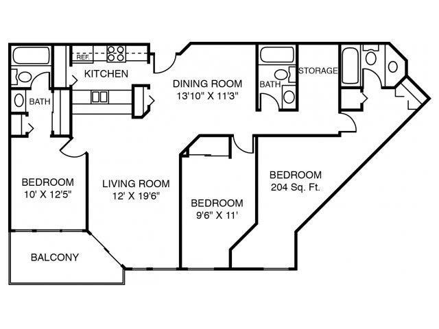 3B The Willow Floor Plan 5