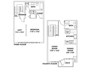 A2 - 1 Bedroom - Loft Townhome