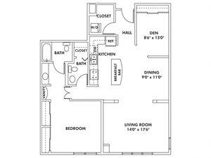 M1 - 1 Bedroom - Den Flat