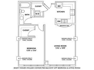 Q - 1 Bedroom Apartment