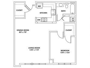 K1 - 1 Bedroom Flat