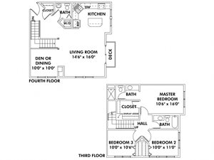 E2 - 3 Bedroom Townhome