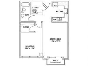 H - 1 Bedroom Flat