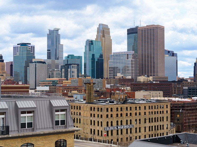 view of the city of Minneapolis