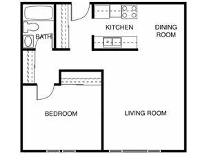 1 Bedroom 1 Bath - Lg
