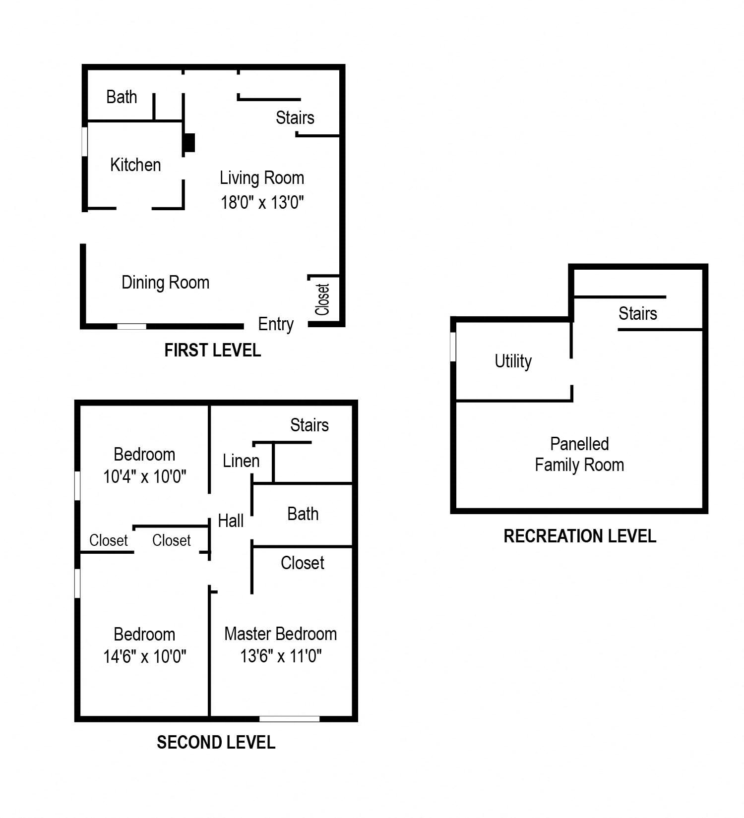 Floor plans of whispering lake apartments in florissant mo for 3br 2ba floor plans