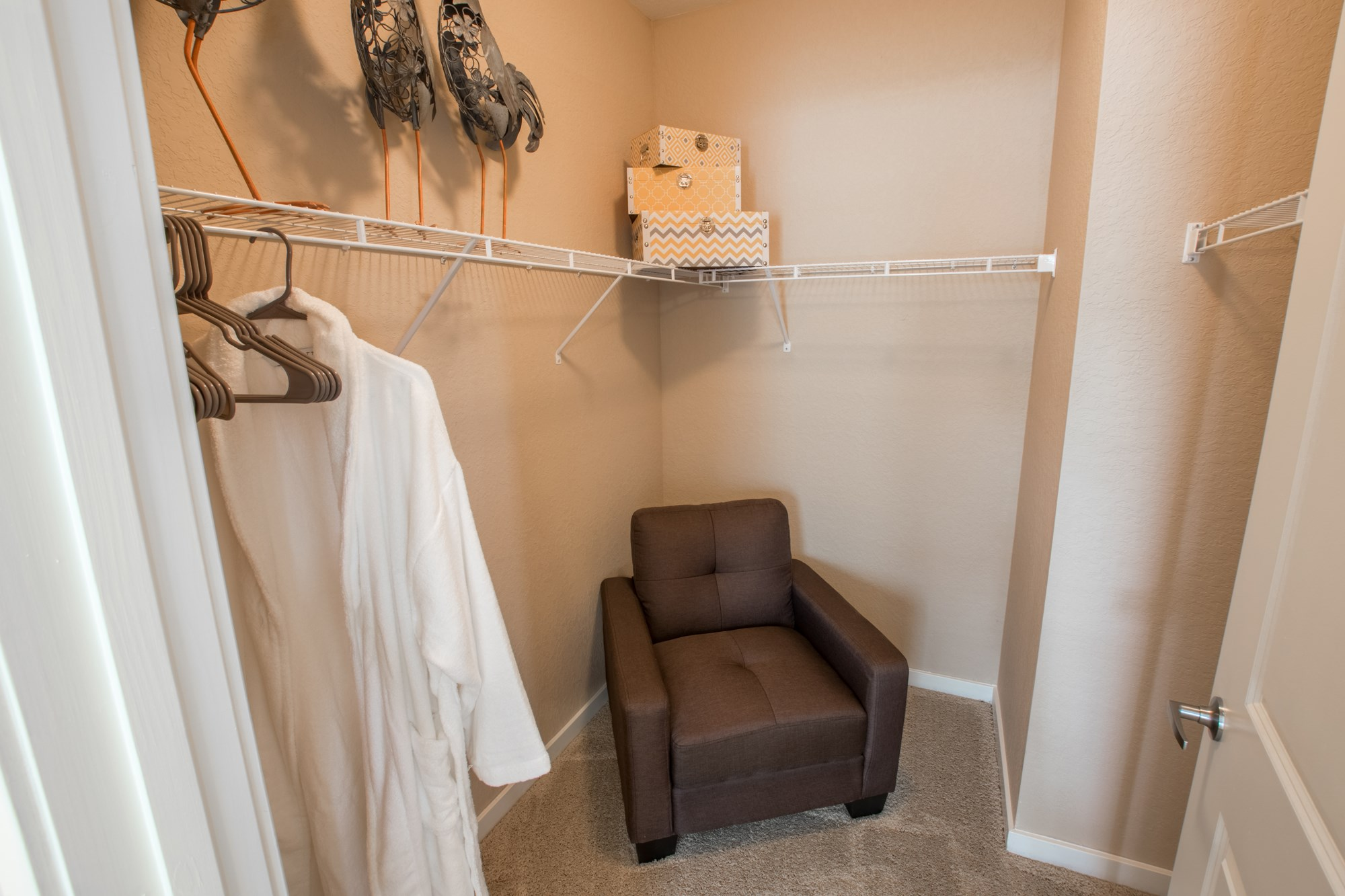 Walk-In Closet at Creekside Ranch Apartments in Bradenton, FL