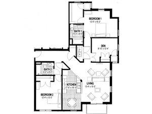 2 Bedroom Plus Den