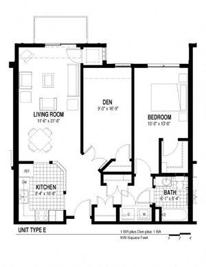 1 Bedroom w/ Den