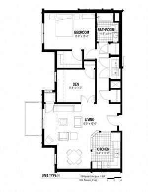 1 Bedroom plus Den