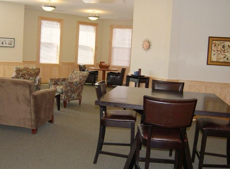 Clover Field Marketplaces' spacious community room.