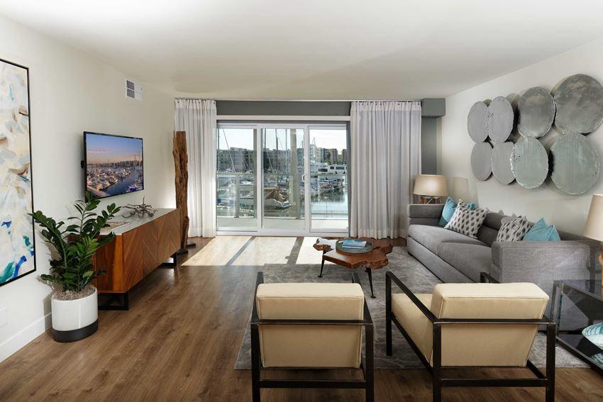 Wayfarer Marina Del Rey, CA Model Living Room