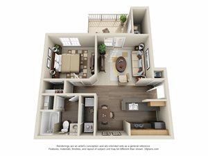 1 Bedroom | 1 Bath | Patio