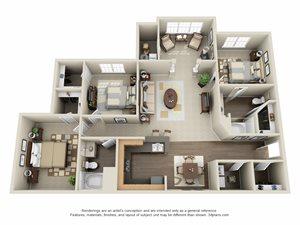 3 Bedroom | 2 Bath | Patio