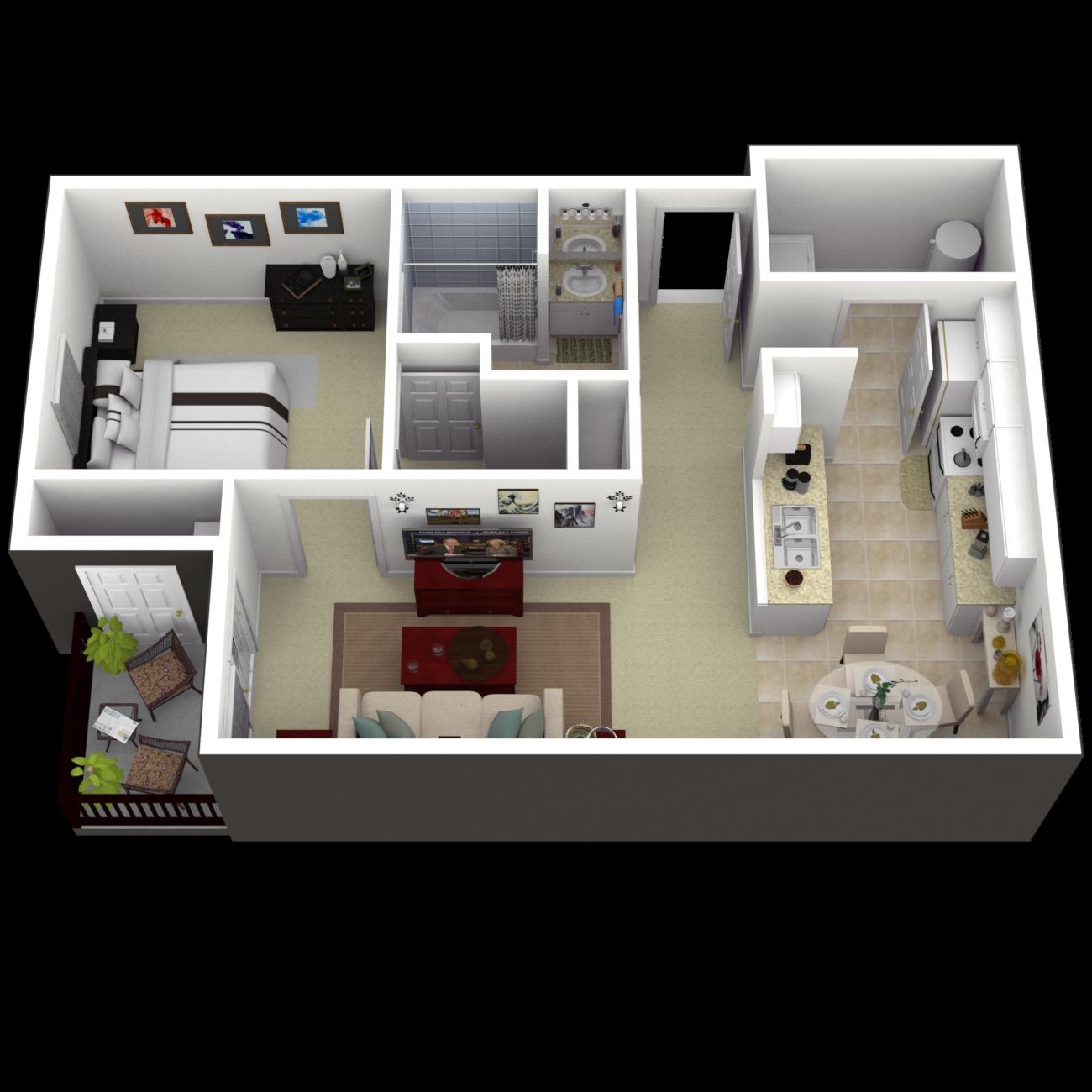 The Creston Floor Plan 1