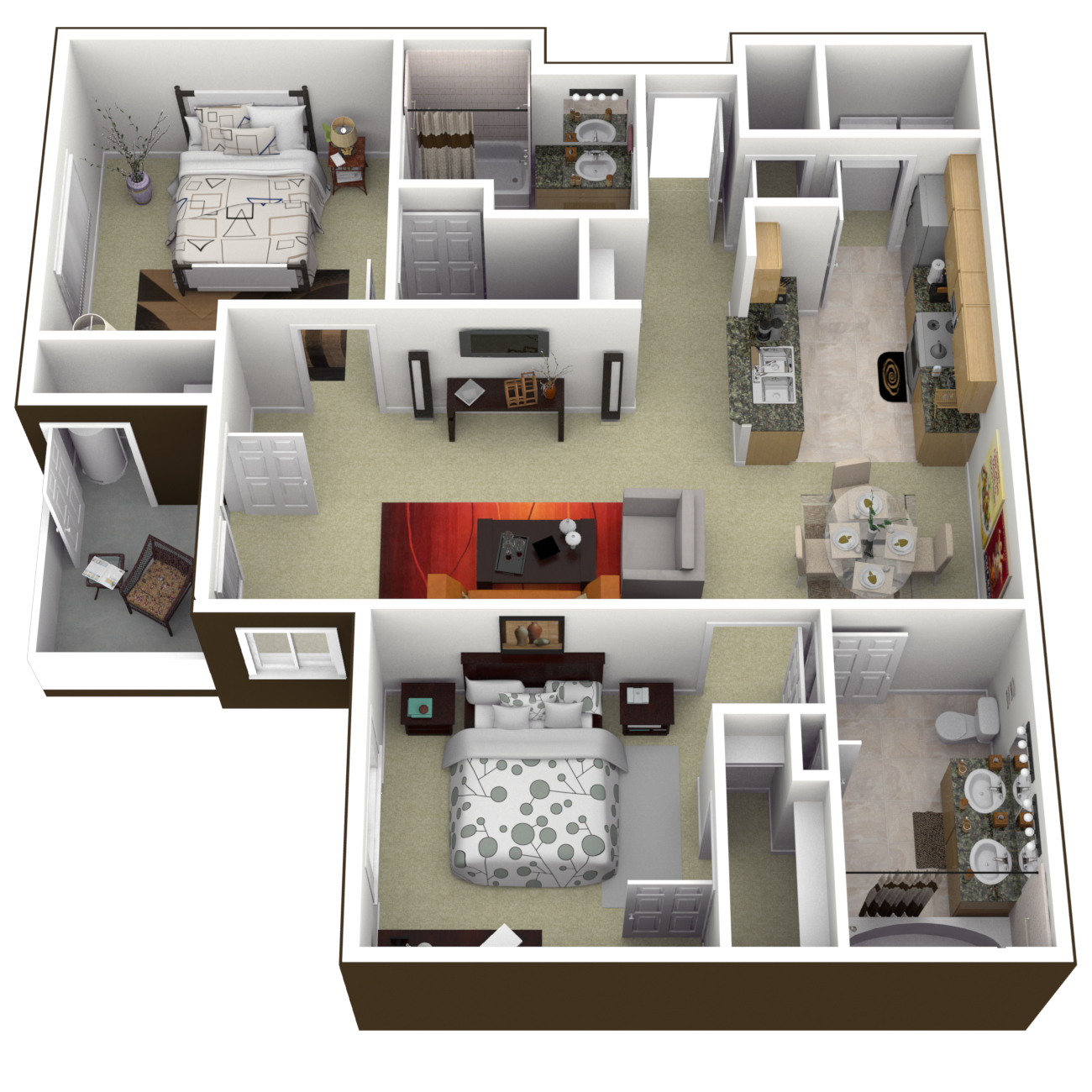The Petersburg Floor Plan 4